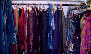 large selection of fair trade clothing